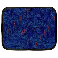 Blue Sphere Netbook Case (Large)	 by InsanityExpressed
