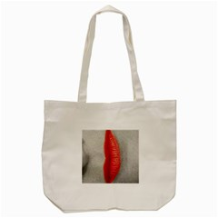 Lips Tote Bag (cream)  by theimagezone
