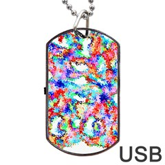 Soul Colour Light Dog Tag Usb Flash (two Sides)  by InsanityExpressed