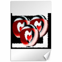 Heart Time 3 Canvas 20  x 30   by InsanityExpressed
