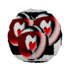 Heart Time 3 Standard 15  Premium Round Cushions