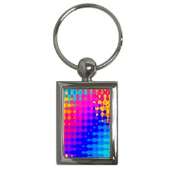 Totally Trippy Hippy Rainbow Key Chains (rectangle)  by KirstenStar