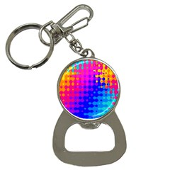 Totally Trippy Hippy Rainbow Bottle Opener Key Chains by KirstenStar
