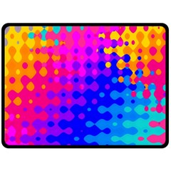 Totally Trippy Hippy Rainbow Double Sided Fleece Blanket (Large)  by KirstenStar