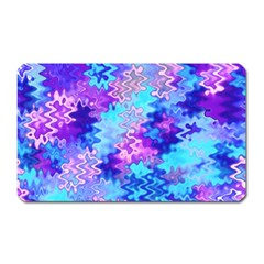 Blue And Purple Marble Waves Magnet (rectangular) by KirstenStar
