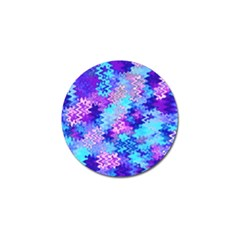 Blue And Purple Marble Waves Golf Ball Marker (4 Pack) by KirstenStar