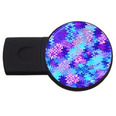 Blue And Purple Marble Waves Usb Flash Drive Round (4 Gb)  by KirstenStar