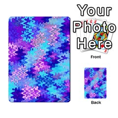 Blue And Purple Marble Waves Multi Purpose Cards (rectangle)  by KirstenStar