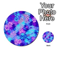 Blue and Purple Marble Waves Multi-purpose Cards (Round)  by KirstenStar