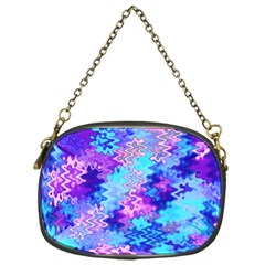 Blue And Purple Marble Waves Chain Purses (one Side)  by KirstenStar