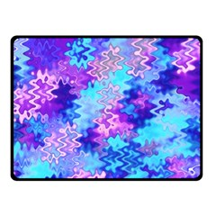 Blue And Purple Marble Waves Fleece Blanket (small) by KirstenStar