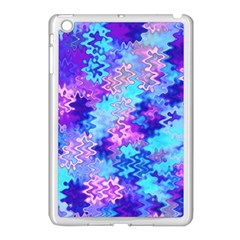 Blue and Purple Marble Waves Apple iPad Mini Case (White) by KirstenStar