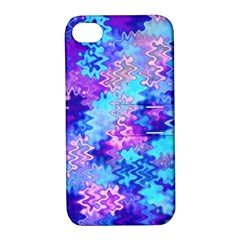 Blue And Purple Marble Waves Apple Iphone 4/4s Hardshell Case With Stand by KirstenStar