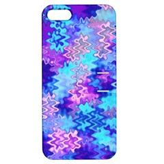 Blue And Purple Marble Waves Apple Iphone 5 Hardshell Case With Stand by KirstenStar