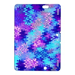 Blue And Purple Marble Waves Kindle Fire Hdx 8 9  Hardshell Case by KirstenStar