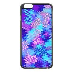 Blue And Purple Marble Waves Apple Iphone 6 Plus Black Enamel Case by KirstenStar