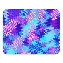 Blue And Purple Marble Waves Double Sided Flano Blanket (large)  by KirstenStar