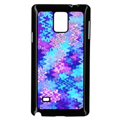 Blue And Purple Marble Waves Samsung Galaxy Note 4 Case (black) by KirstenStar
