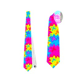 Crazy Yellow And Pink Pattern Neckties (two Side)  by KirstenStar