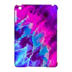 Stormy Pink Purple Teal Artwork Apple iPad Mini Hardshell Case (Compatible with Smart Cover) by KirstenStar