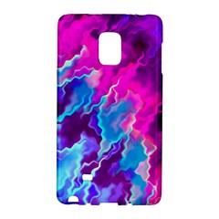 Stormy Pink Purple Teal Artwork Galaxy Note Edge by KirstenStar