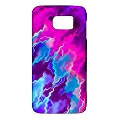 Stormy Pink Purple Teal Artwork Galaxy S6 by KirstenStar