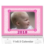 Pretty in Pink 2016 jan (any Year) Calendar - Wall Calendar 11  x 8.5  (12-Months)