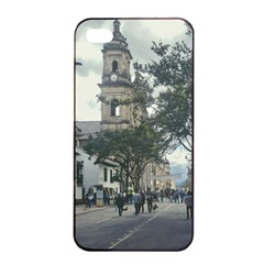 Cathedral At Historic Center Of Bogota Colombia Edited Apple Iphone 4/4s Seamless Case (black) by dflcprints