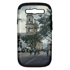 Cathedral At Historic Center Of Bogota Colombia Edited Samsung Galaxy S III Hardshell Case (PC+Silicone) by dflcprints