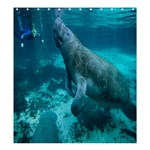 Shower Curtain:; Diver  - Shower Curtain 66  x 72  (Large)
