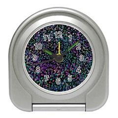 Improvisational Music Notes Travel Alarm Clocks by urockshop