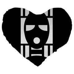 Masked Large 19  Premium Heart Shape Cushions by ArtistRoseanneJones