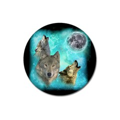 Wolves Shiney Grim Moon 3000 Magnet 3  (round) by ratherkool