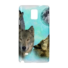 Wolves Shiney Grim Moon 3000 Samsung Galaxy Note 4 Hardshell Case