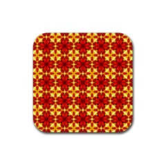 Cute Pretty Elegant Pattern Rubber Square Coaster (4 Pack)  by creativemom