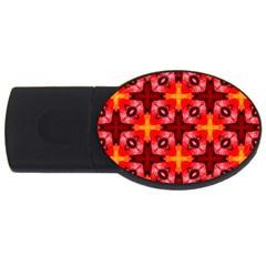 Cute Pretty Elegant Pattern USB Flash Drive Oval (2 GB)  by creativemom