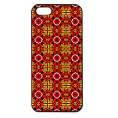 Cute Pretty Elegant Pattern Apple iPhone 5 Seamless Case (Black) by creativemom