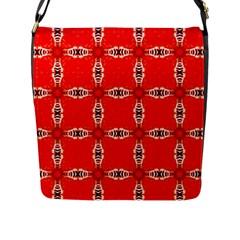 Cute Pretty Elegant Pattern Flap Messenger Bag (l)  by creativemom