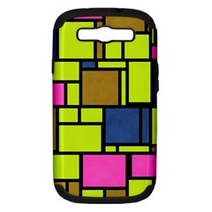 Squares And Rectangles Samsung Galaxy S Iii Hardshell Case (pc+silicone) by LalyLauraFLM