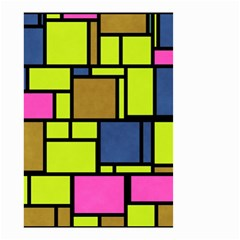 Squares And Rectangles Small Garden Flag by LalyLauraFLM