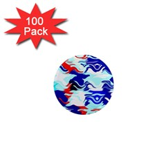 Wavy Chaos 1  Mini Magnet (100 Pack)  by LalyLauraFLM