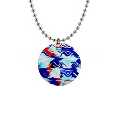Wavy Chaos 1  Button Necklace by LalyLauraFLM