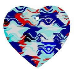 Wavy Chaos Heart Ornament (two Sides) by LalyLauraFLM