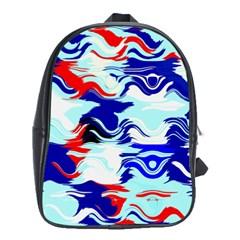 Wavy Chaos School Bag (xl) by LalyLauraFLM