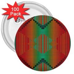 Striped Tribal Pattern 3  Button (100 Pack) by LalyLauraFLM