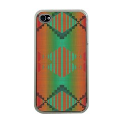 Striped Tribal Pattern Apple Iphone 4 Case (clear) by LalyLauraFLM