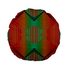 Striped Tribal Pattern Standard 15  Premium Round Cushion  by LalyLauraFLM