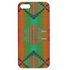 Striped Tribal Pattern Apple Iphone 5 Hardshell Case With Stand by LalyLauraFLM