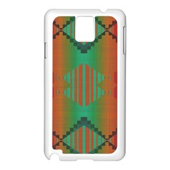 Striped Tribal Pattern Samsung Galaxy Note 3 N9005 Case (white) by LalyLauraFLM