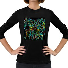 Soul Colour Women s Long Sleeve Dark T Shirts by InsanityExpressedSuperStore